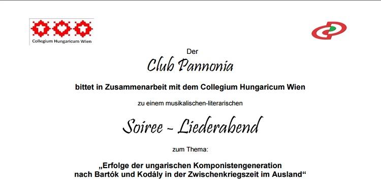 Club Pannonia SOIRÉE-literarischer Liederabend