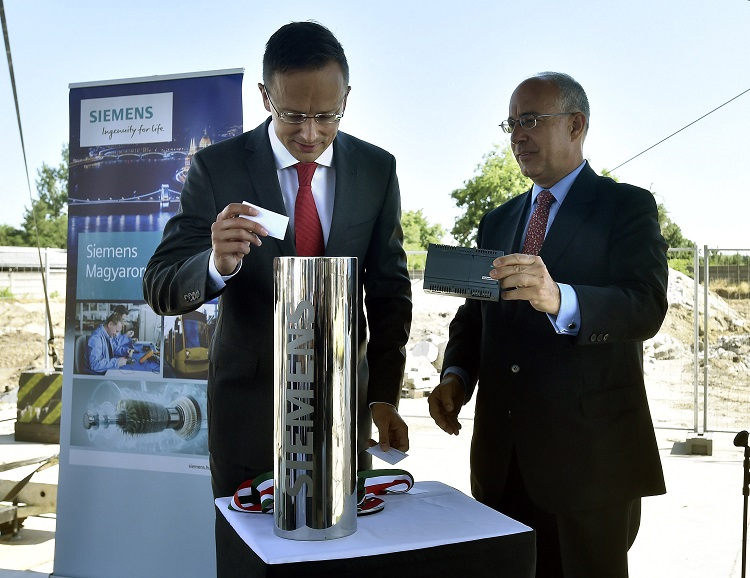 Siemens Power and Gas Grundsteinlegung in Budapest post's picture