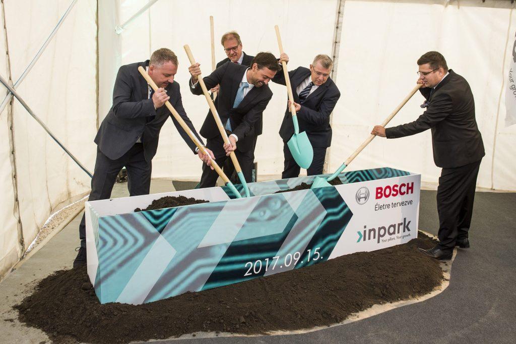 Grundsteinlegung für neues Bosch-Logistikzentrum in Hatvan