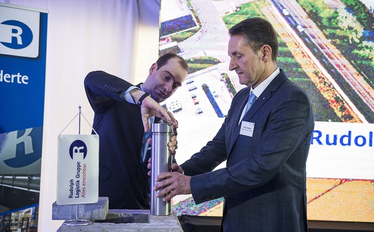 Rudolph-Gruppe legt Grundstein für neues Depot in Tatabánya