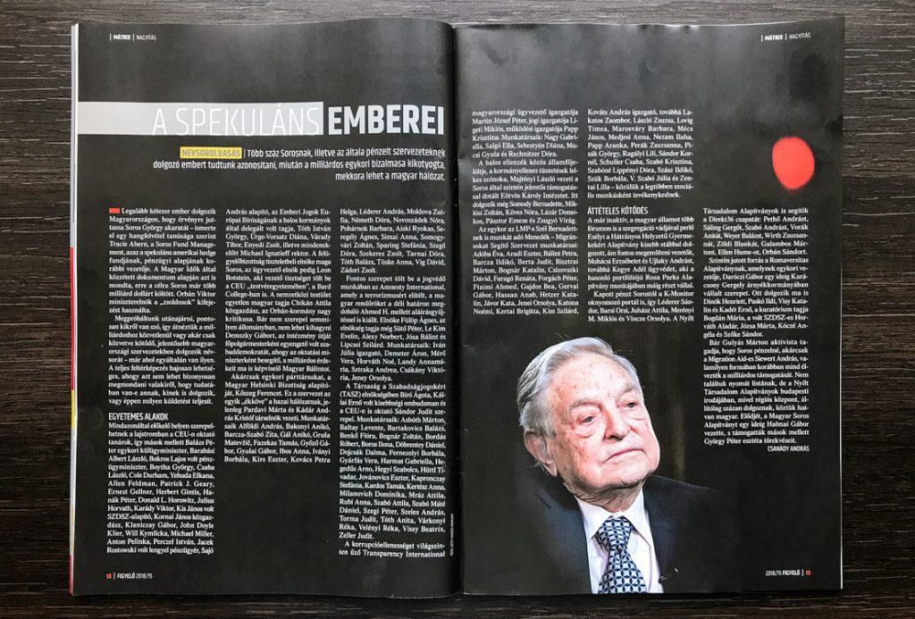 """""""Liste von Soros-Leuten: 200 Namen in einer regierungsnahen Zeitung publiziert"""" post's picture"""