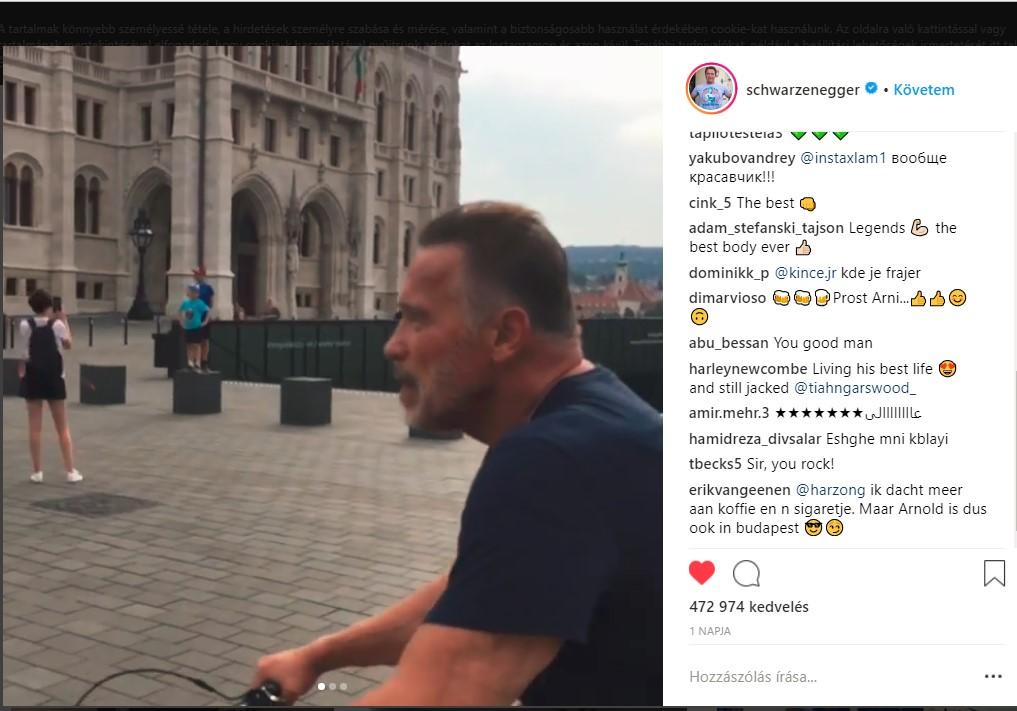 Schwarzenegger liebt Budapest
