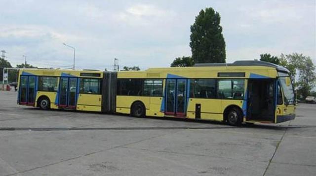14 Jahre alte Schweizer Busse in Budapest