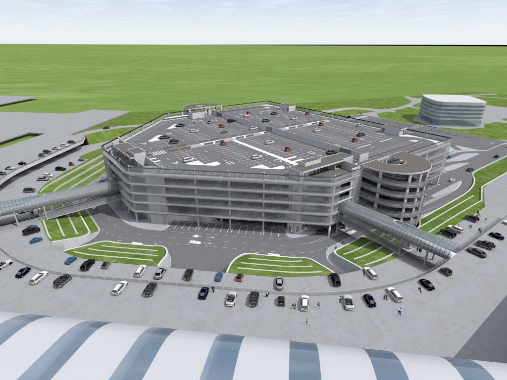 Neues Parkhaus mit 6 Etagen für den Liszt Ferenc Flughafen