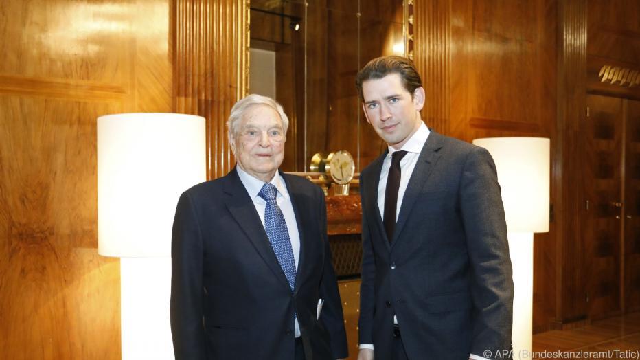 Kanzler Kurz empfing Milliardär George Soros post's picture