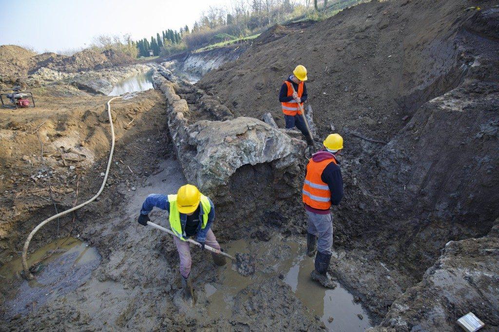 Römische Wasserleitung bei Szombathely gefunden