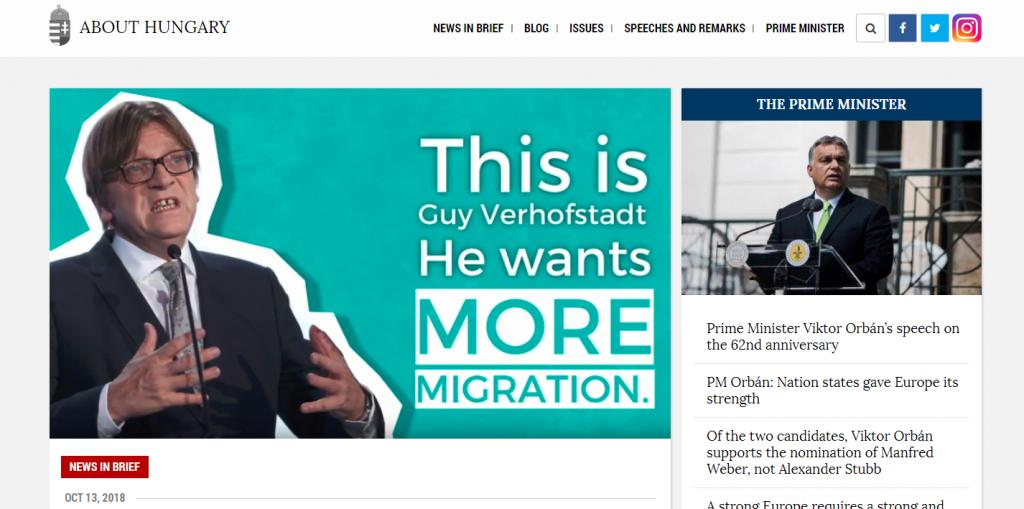 """Regierungssprecher an Verhofstadt: """"Liberale greifen Ungarn wegen Migrationspolitik an"""" post's picture"""