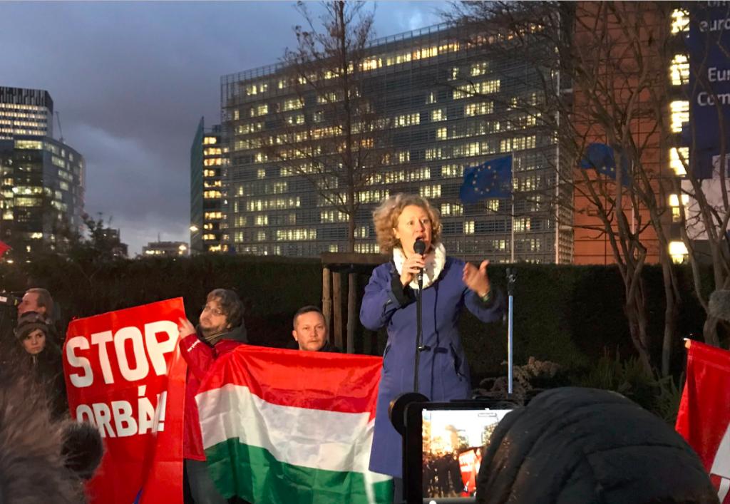 Anti-Regierungsdemo mit Sargentini in Brüssel