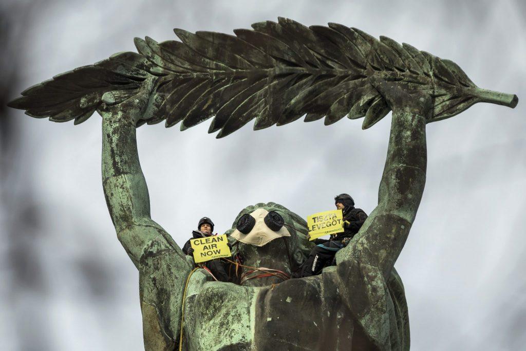 Protest gegen hohe Luftverschmutzung
