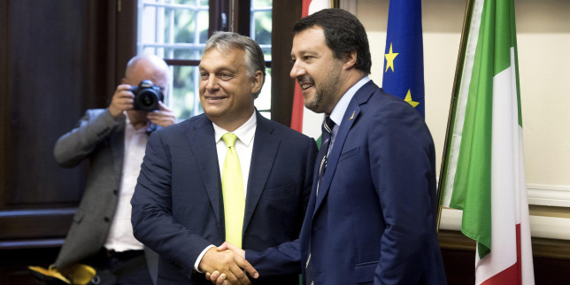 Italiens Innenminister Salvini heute bei Orbán in Budapest post's picture