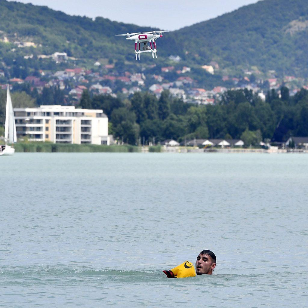 Drohnenflotte auf dem Balaton im Einsatz