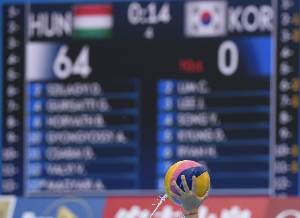 Historisches Ergebnis bei Wasserball-WM: Ungarn – Südkorea 64:0