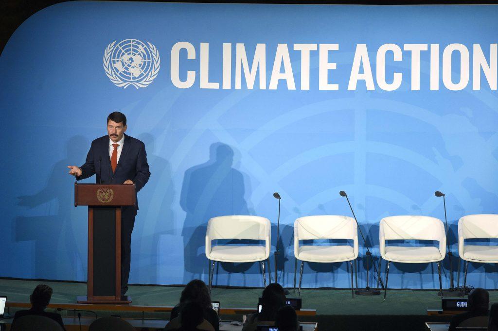 """Áder beim Uno-Klimagipfel: """"Billigste Energie ist, die wir nicht erzeugen"""""""