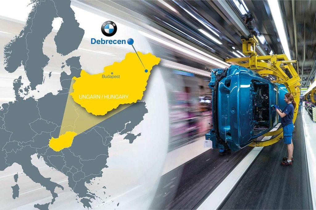 BMW entwickelt eine E-Plattform in Debrecen