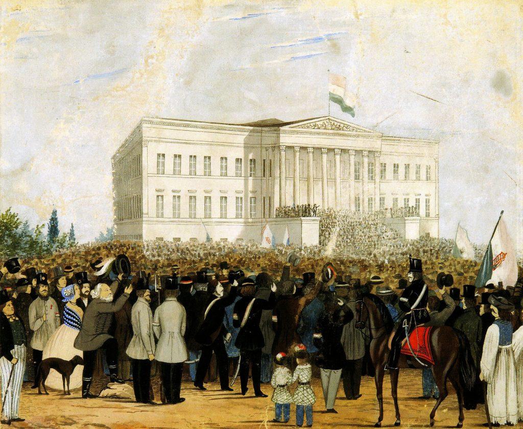 15. März: Sándor Petőfis Nemzeti Dal (Nationales Lied), Ungarns berühmtestes Gedicht