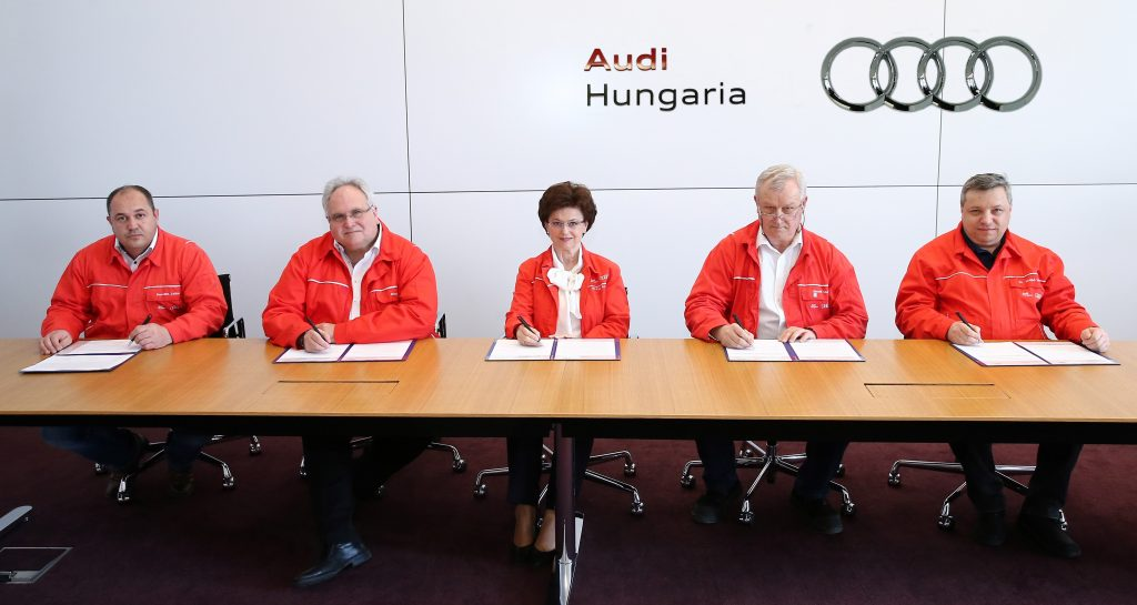 Audi Hungaria Zrt.: Tarifvereinbarung steht post's picture