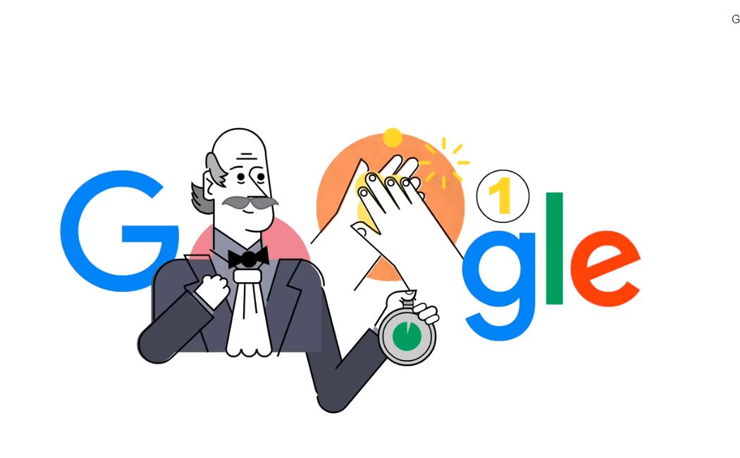 Ungarischer Ignác Semmelweis, der das Händewaschen erfand, von Google geehrt post's picture