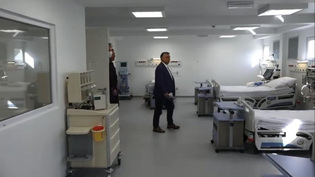 Orbán checkt neu gebautes Epidemiekrankenhaus