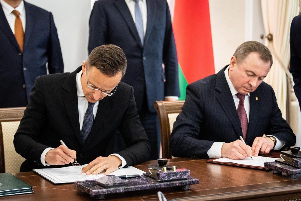 Szijjártó: Ungarn und Weißrussland unterzeichnet vier Kooperationspakte