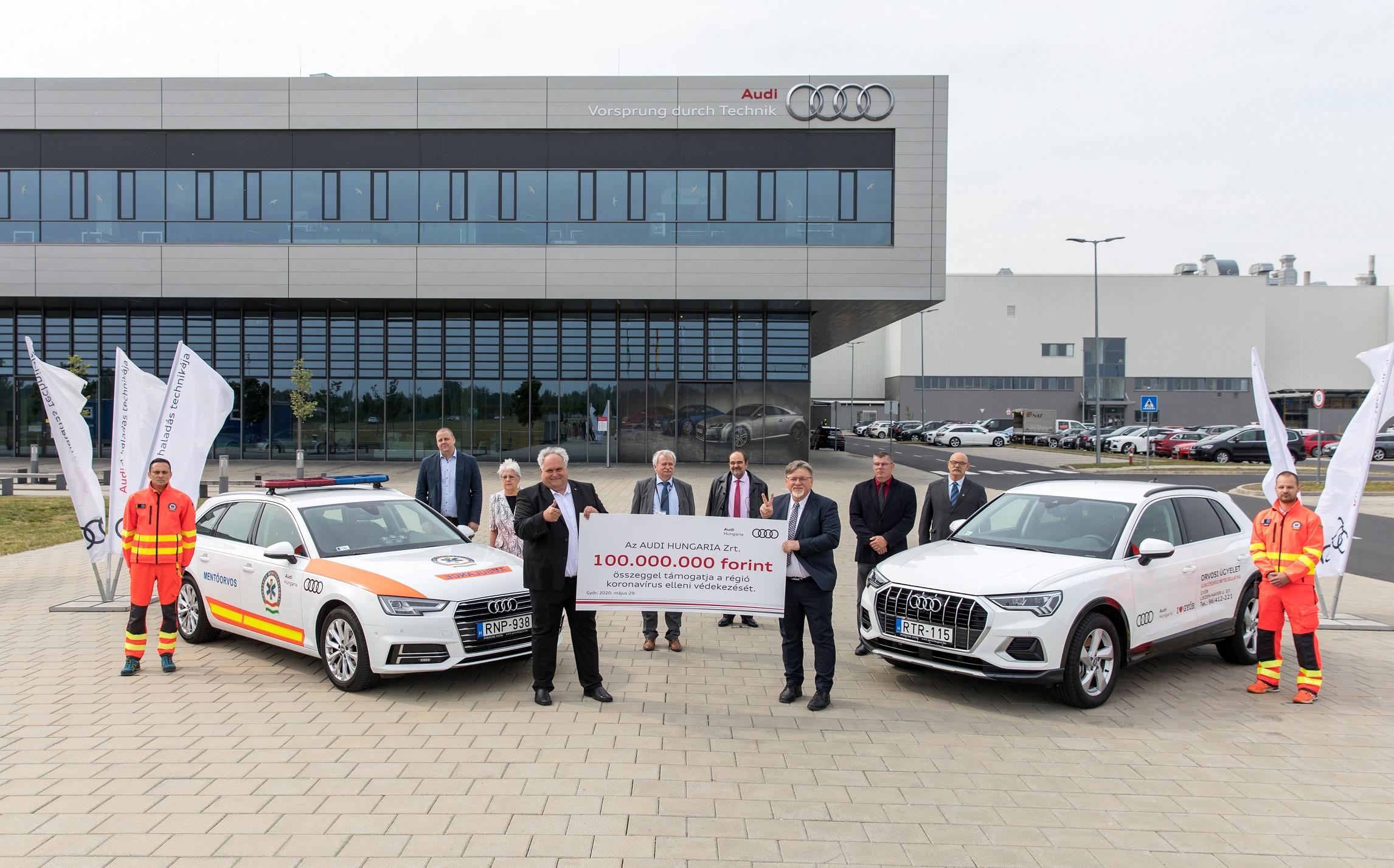 Audi Hungaria unterstützt mit 100 Millionen Forint den Kampf gegen Corona in der Region post's picture