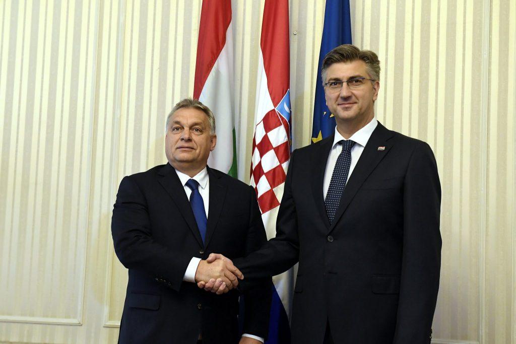 """Orbán an Plenkovic: """"Eine enge Zusammenarbeit mit Kroatien hilft im Kampf gegen die Corona-Pandemie"""""""