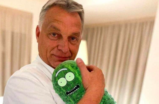 Viktor Orbán und sein Enkelsohn wurden zur Zielscheibe des Spottes gemacht