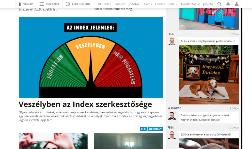 """Nachrichtenportal """"Index"""" ohne Generaldirektor"""