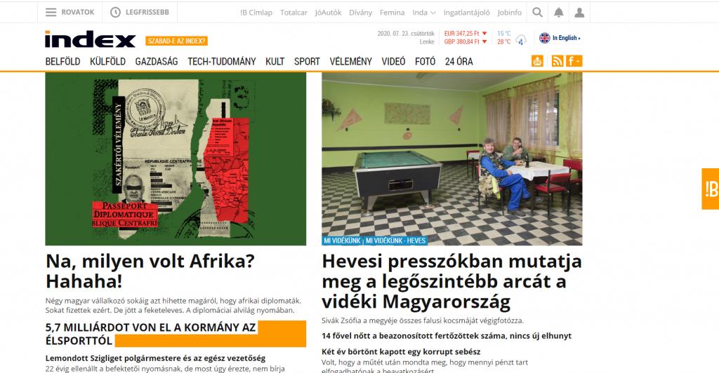 """Chefredakteur des Nachrichtenportals """"Index"""" entlassen"""
