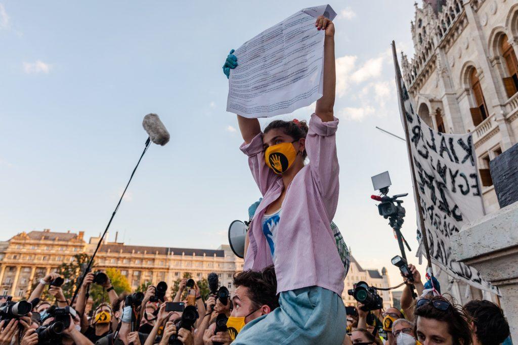 Studentenprotest: Unterricht beginnt an der Uni für Theater