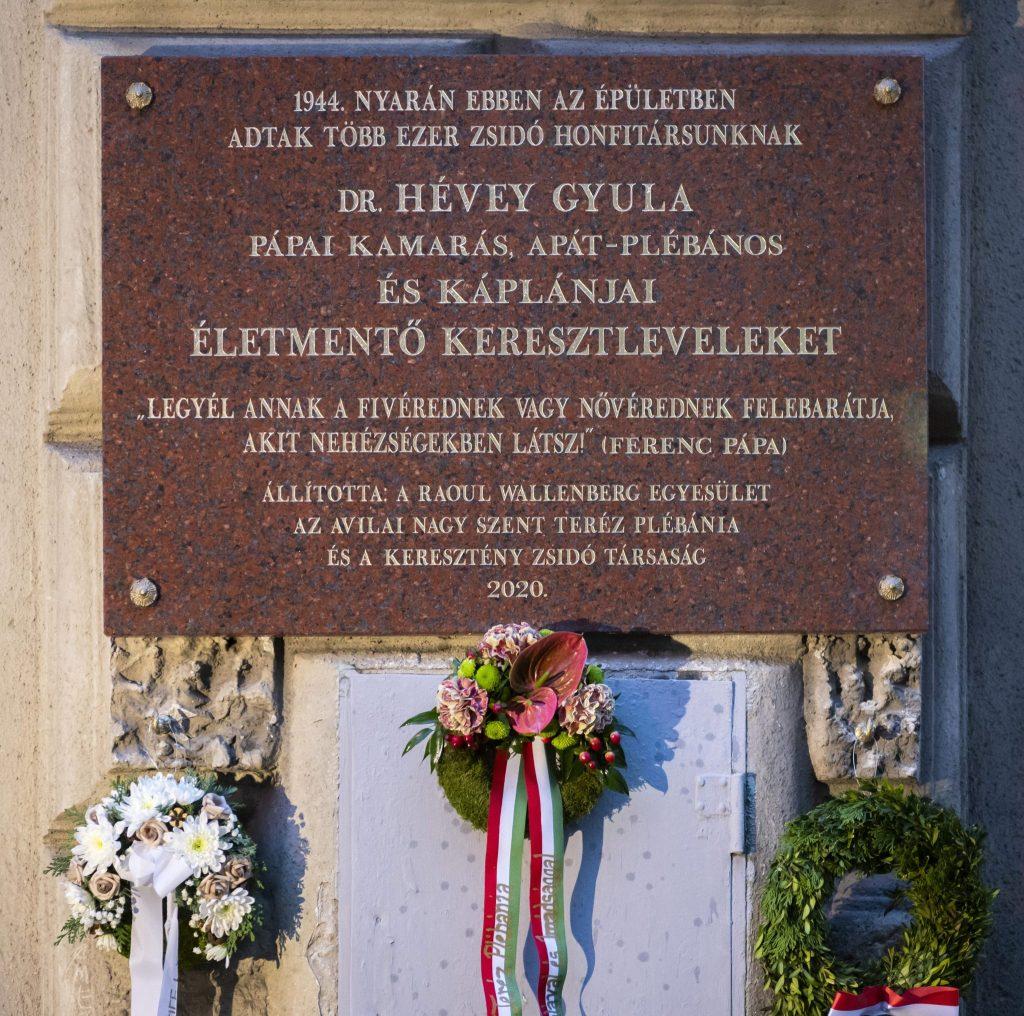 Judenretter Priester bekommt Gedenktafel in Budapest
