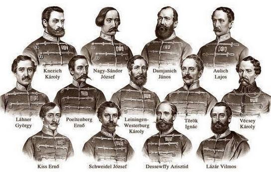 6. Oktober 1849: Deutsche, die sich für Ungarn aufopferten