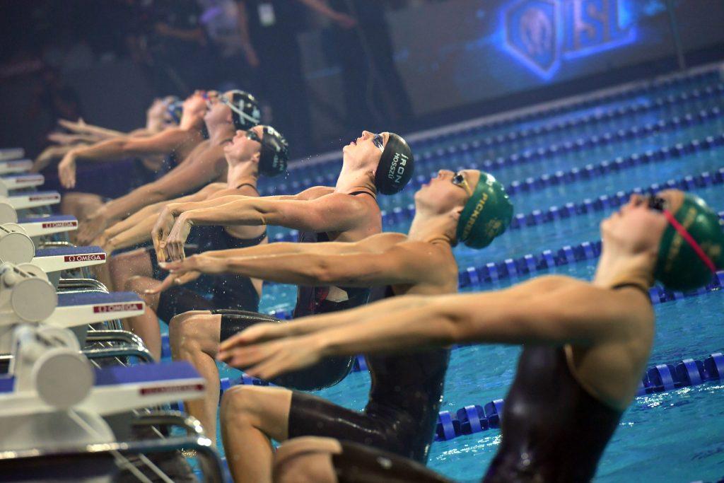 Schwimmstars in der Budapester Duna Arena