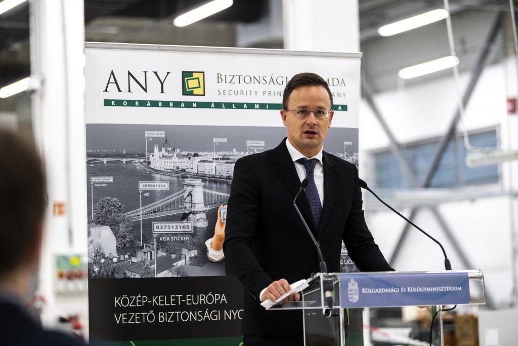 """Die Druckerei """"ANY Biztonsági Nyomda"""" erhält staatliche Unterstützung"""