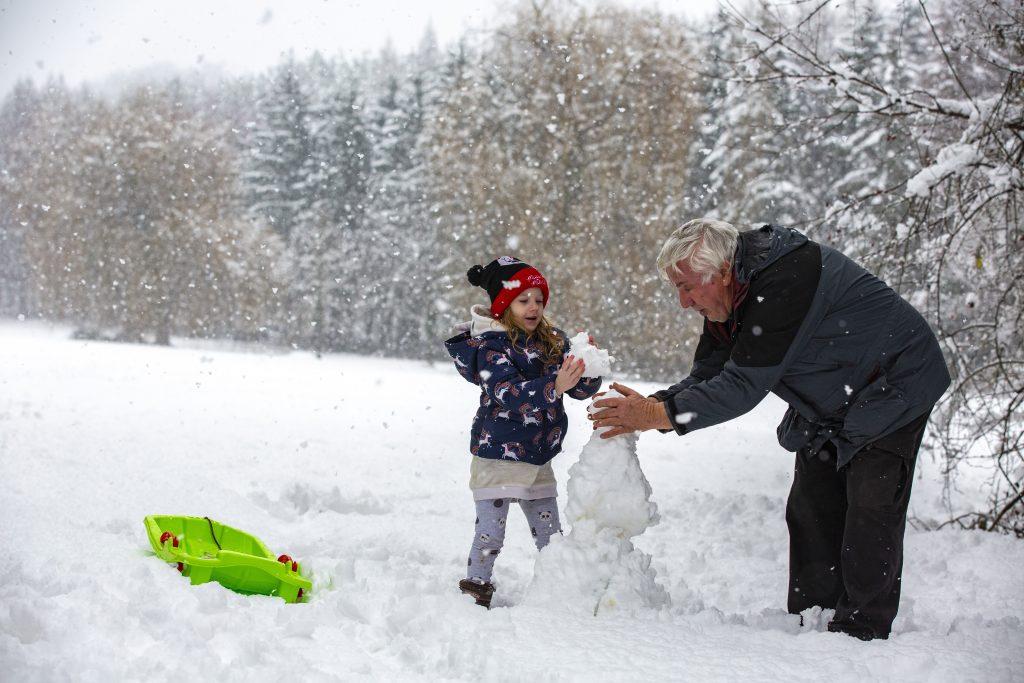 Der Winter kommt in Ungarn an