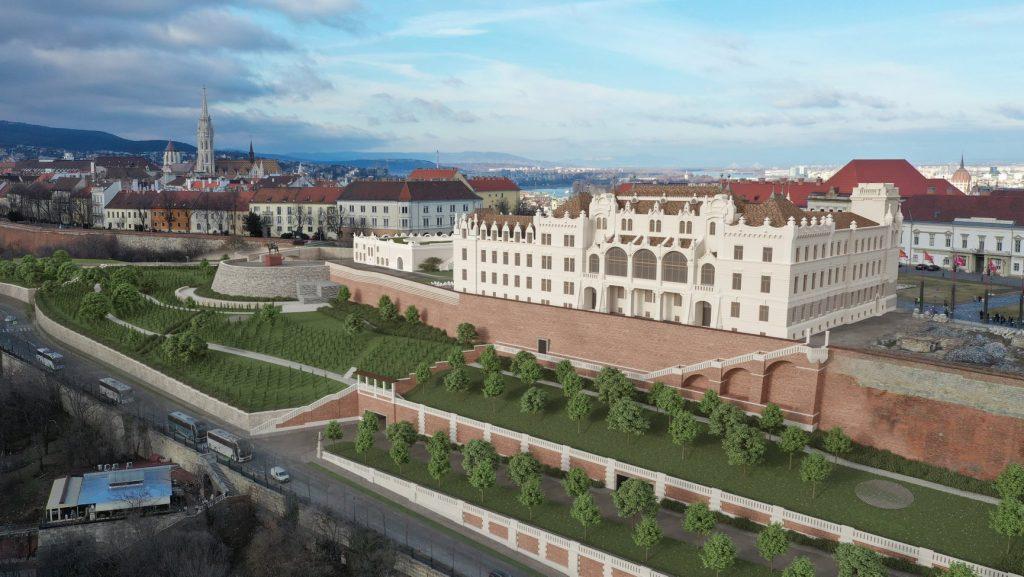 Wiederaufbau der zerstörten Gebäude im Budapester Burgviertel geht weiter