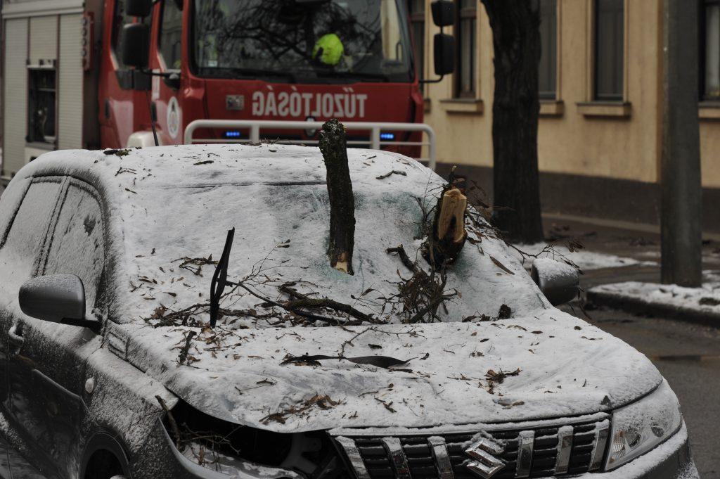 Unwetter in Ungarn: Rekordstromverbrauch, umgestürzte Bäume, Unfälle, Chaos auf den Straßen