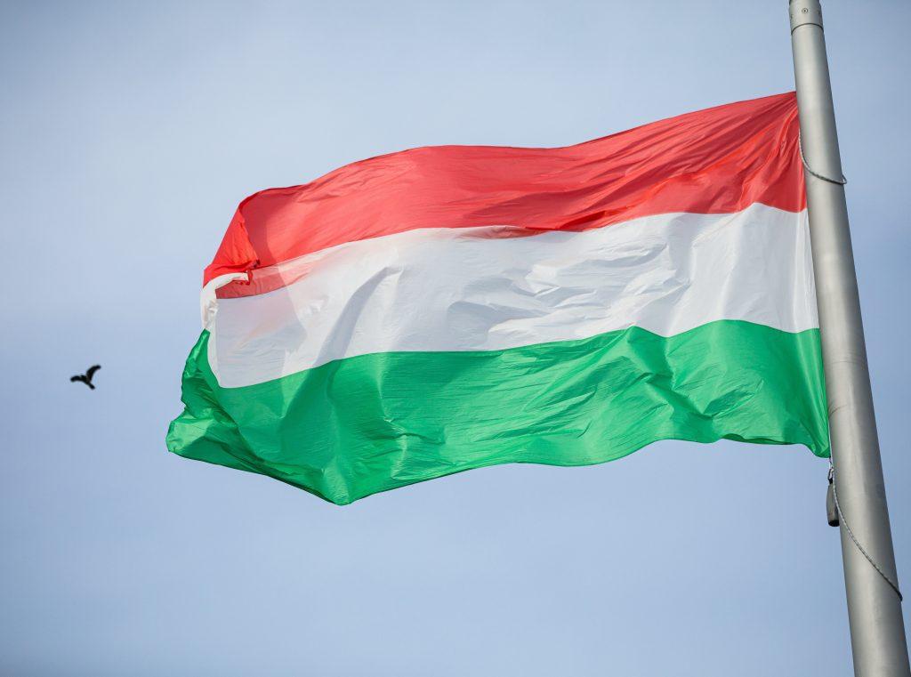 15. März: Nationalflagge vor dem Parlament gehisst