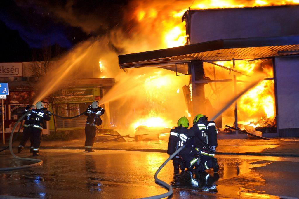SPAR in Szentendre niedergebrannt