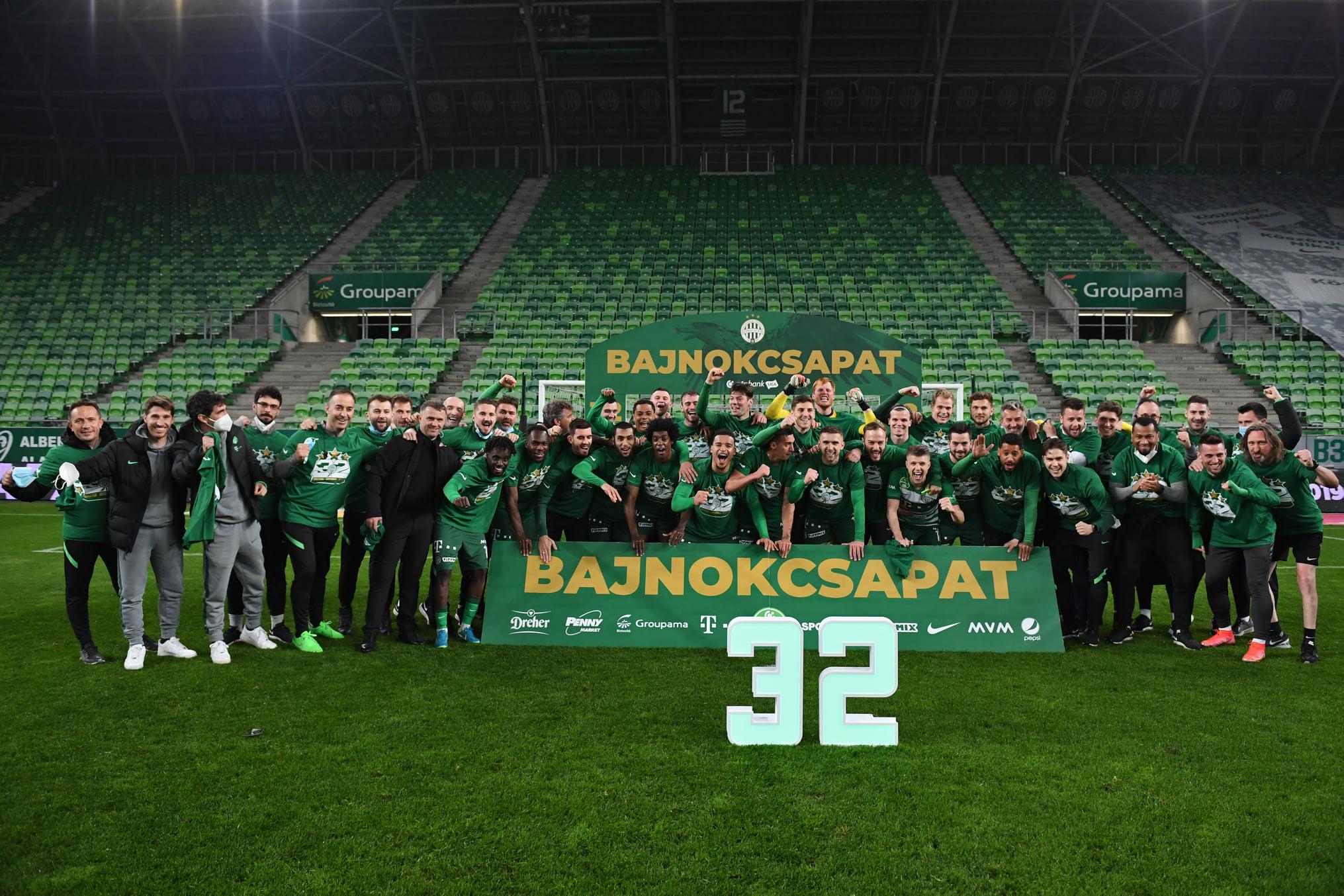Fußball: Ferencváros Budapest zum dritten Mal nacheinander Meister!