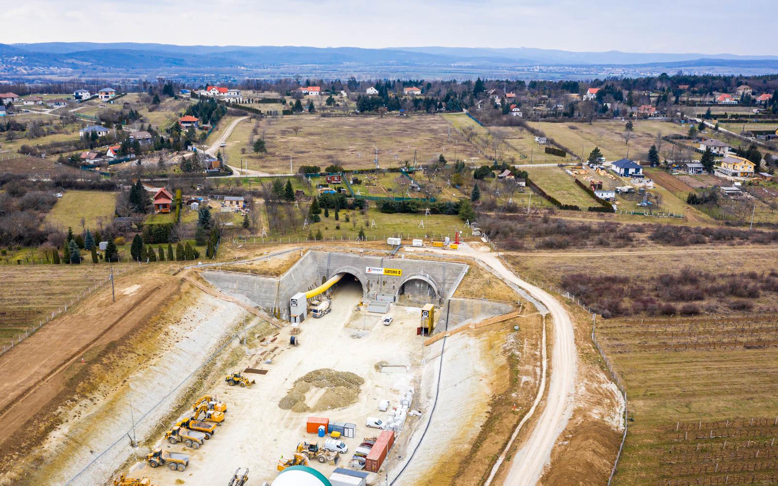 Autobahn M85: Bau des Umfahrungstunnels Sopron (Ödenburg) ist voll im Gange