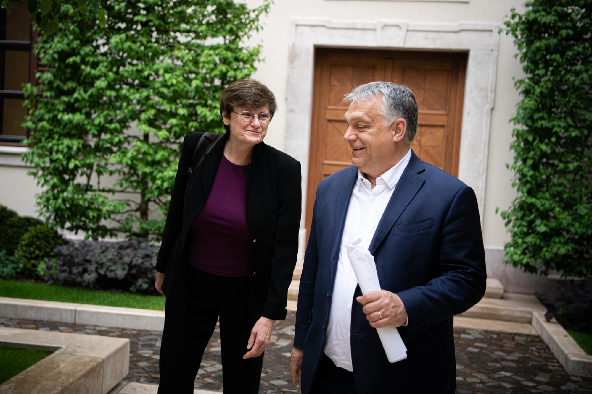 Orbán trifft Biochemikerin Katalin Karikó