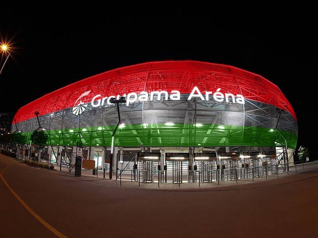 Deutschland-Ungarn: Stadien in Ungarn werden mit den Nationalfarben beleuchtet post's picture