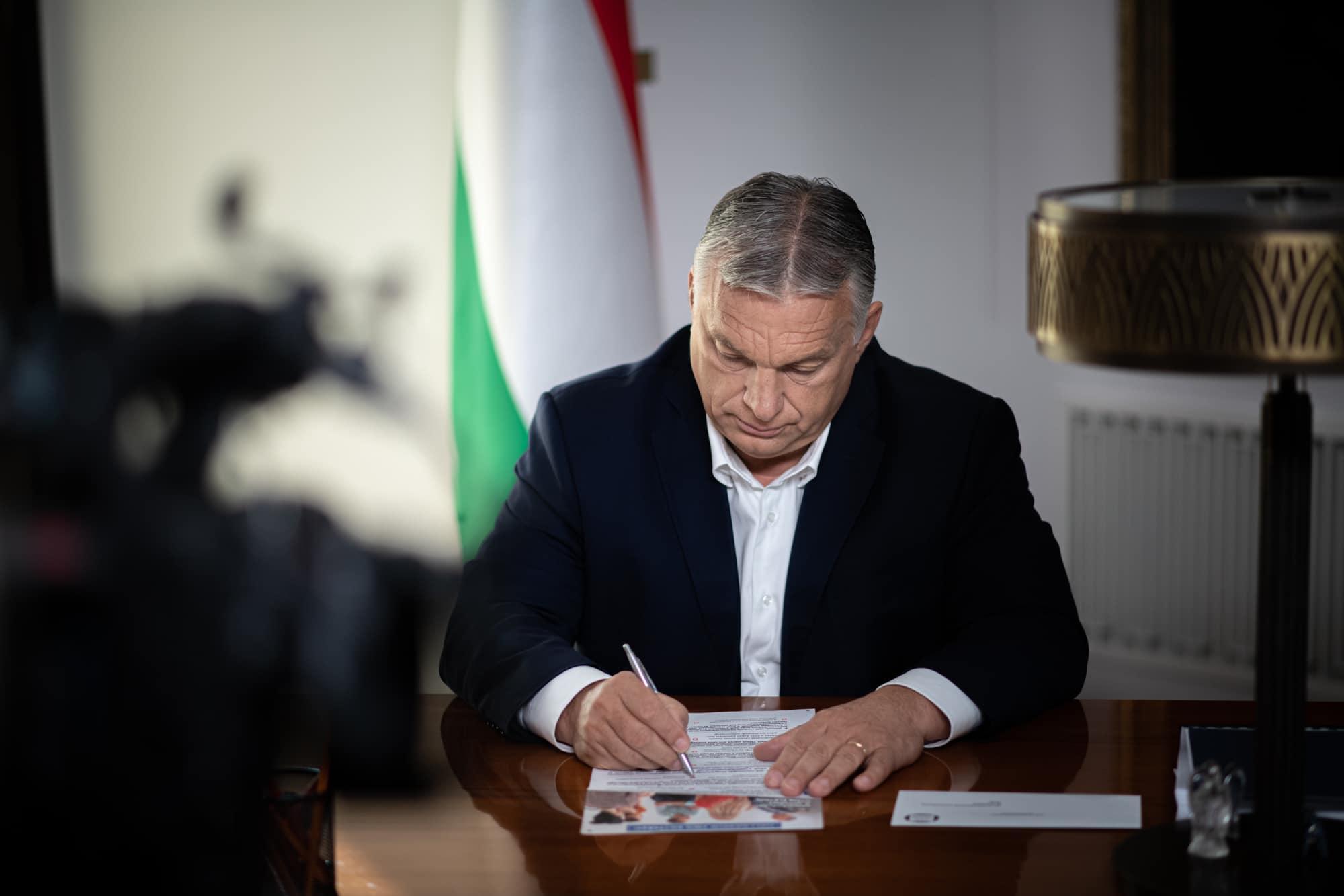 Nationale Konsultation: Orbán ermutigt Wähler, an Umfrage teilzunehmen