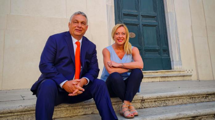 Orbán trifft mit Parteivorsitzenden der Fratelli d'Italia in Rom post's picture