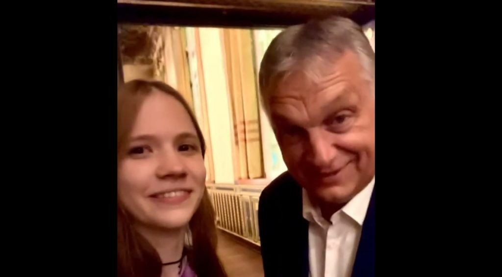 Junges Mädchen machte Interview mit Viktor Orbán post's picture