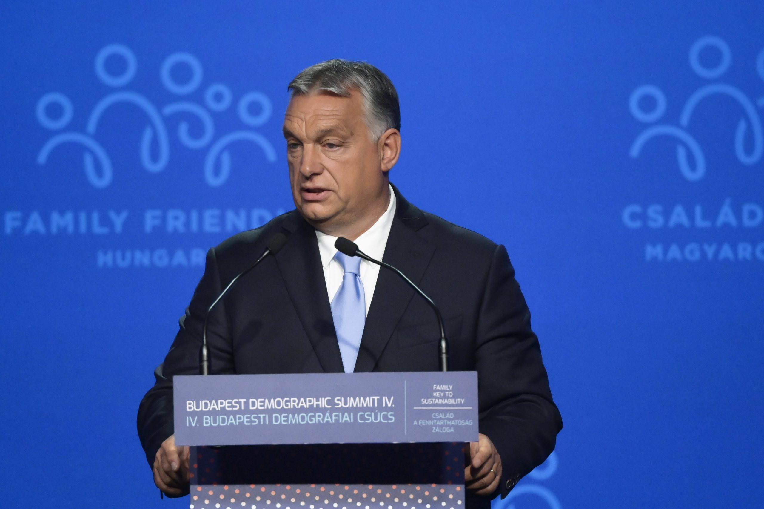 Orbán beim Demografiegipfel: