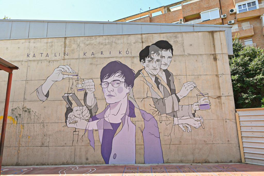 Spanien hat nun eigenes Karikó-Wandgemälde post's picture