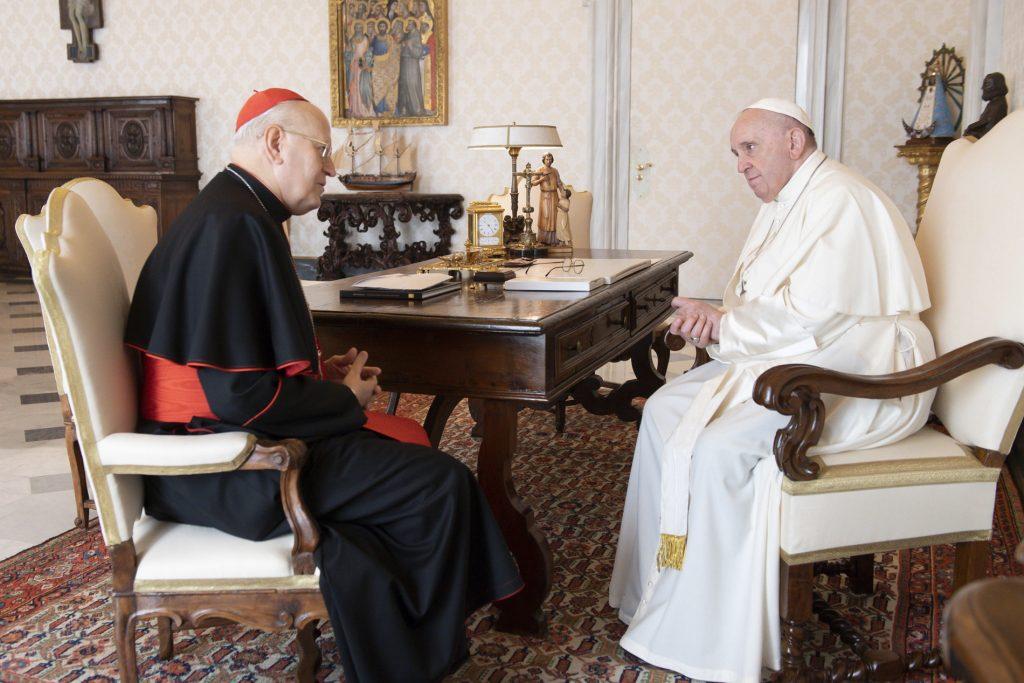 Kardinal Erdő beim Papst Franziskus in Rom post's picture
