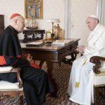 Kardinal Erdő beim Papst Franziskus in Rom