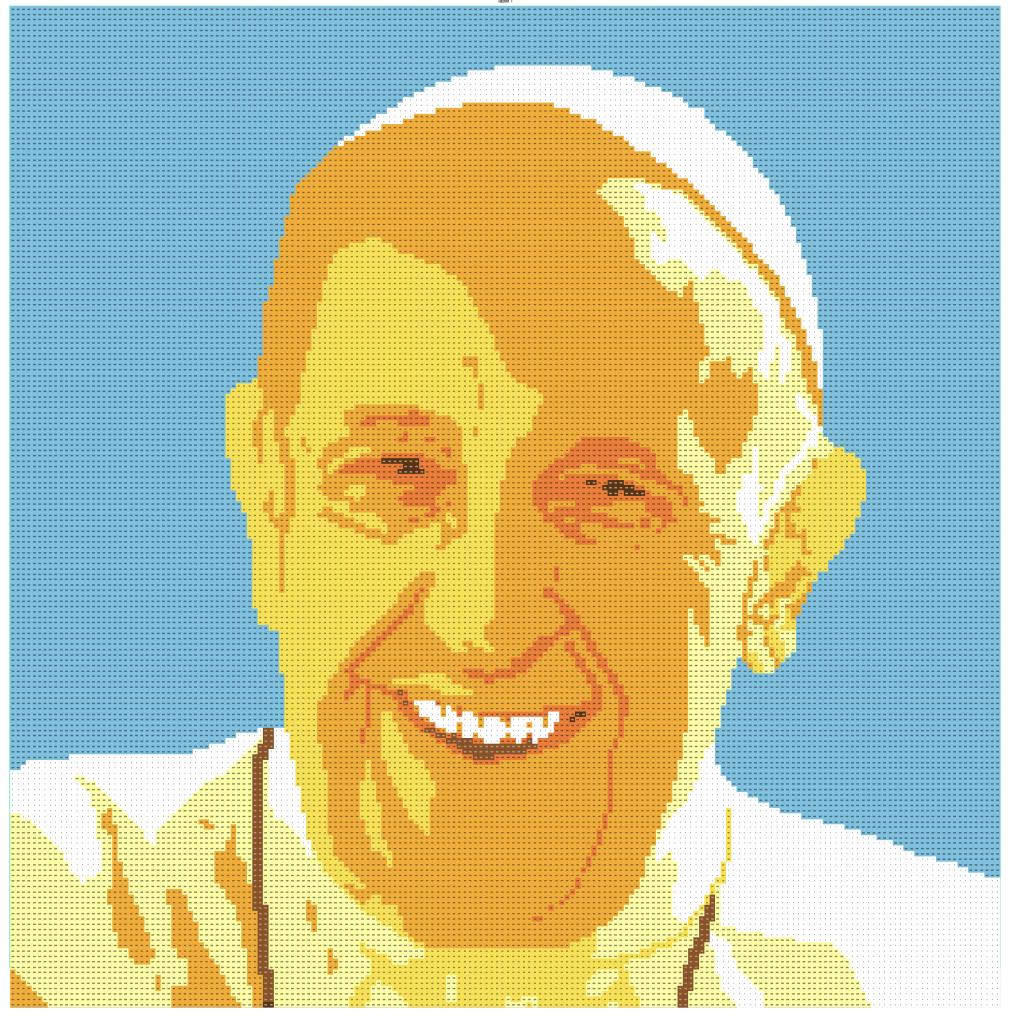 Haben Sie schon einmal versucht, den Papst aus LEGO-Steinen abzubilden? post's picture